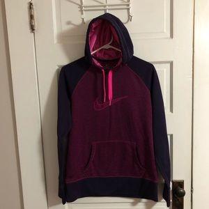 Nike Hoodie Therma-Fit Purple Pink Women's Large